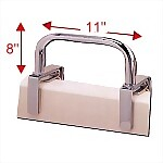 "Chrome-Plated Tub Rail 8"" x 11"""