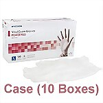 Vinyl Powdered Exam Gloves (Case) - Large