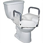 "5"" Locking Raised Toilet Seat w/ Removable Arms"