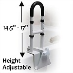 Adjustable Height Tub Rail