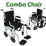 Poly-Fly High Strength, Light Weight Wheelchair/Flyweight Transport Chair Combo