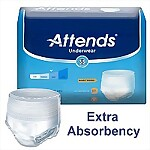 Attends® Extra Absorbency Pull-On Protective Underwear, Large, 72/Case
