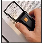 Small Handheld Magnifier with Light