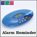Weekly Pill Alarm Clock Reminder XL