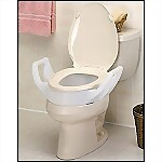 "4"" Bolt-On Raised Toilet Seat w/ Arms"