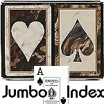 Congress� Black Marble Jumbo Bridge Playing Cards