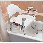 Premium Bath Chair with Front Support Handles