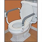 Toilet Support Rails with Cushion Grip