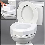 Open Front Raised Toilet Seat with Removable Front Lip