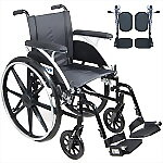"16"" or 18"" Viper Deluxe Wheelchair with Elevating Legrest"