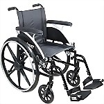 "20"" Viper Deluxe Wheelchair with Elevating Legrest or Swing Away Footrest"