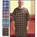 Men's Flannel Patient Gown