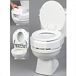 "3"" Secure-Bolt Hinged Elevated Toilet Seat"