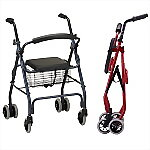 Classic Rollator with Push Down Brakes