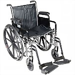 "18"" Silver Sport Dual Axle Wheelchair"