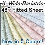 Extra Wide Bariatric Deluxe Knit Fitted Hospital Sheet, 48 x 82