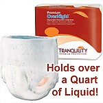 Tranquility� Premium Overnight Underwear, EXTRA SMALL, 88/Case