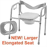 3 in 1 Steel Commode with Elongated Seat - backordered