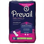 Prevail® PantiLiners, Very Light Absorbency, 312/Case (12 Bags)