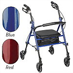 Aluminum Folding Rollator with Adjustable Seat Height