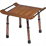 Teak Adjustable Height Bath Bench