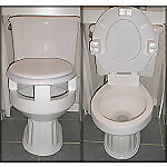 "3"" Toilet Seat Riser, Four Piece Set"