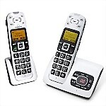 Clearsounds� A500 COMBO: Amplified Talking Cordless Phone with Extension Handset Bundle