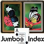 Congress® Butterflies Jumbo Bridge Playing Cards