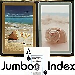 Congress� Seashells Jumbo Bridge Playing Cards