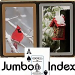 Congress� Cardinal Jumbo Bridge Playing Cards