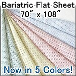 Bariatric Knit FLAT Hospital Sheet, 70 x 108