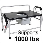 Extra Large Bariatric Drop Arm Commode, 1000 lbs