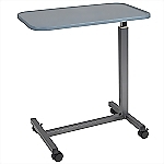 Plastic Top Overbed Table, H-Base