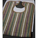 Sierra Stripe Adult Terry Cloth Bib, 18 x 34