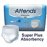Attends® Advanced Super Plus Absorbency Pull-On Protective Underwear, Large, 72/Case