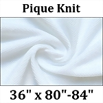 Pique Knit Fitted Hospital Sheet (36x80)