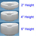 Contoured Tall-Ette® Elevated Toilet Seat (Std)