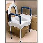 "4"" Extra Wide Toilet Seat w/ Arms & Legs"