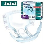Attends� 10 Briefs with WaistBand, Large, 72/Case