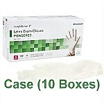 Latex Powdered Exam Gloves (Case) - Small