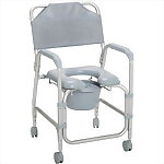 Aluminum Commode & Shower Chair