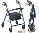 Blue Aluminum Rollator Walker with Wheels
