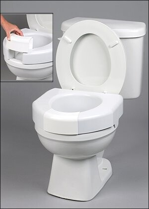optional open front raised toilet seat riser with front lip