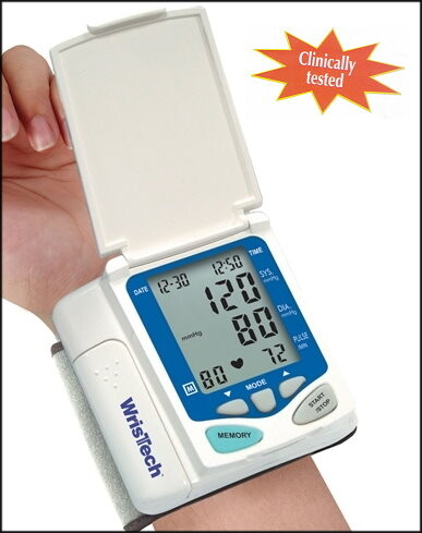 blood pressure monitor with protective cover