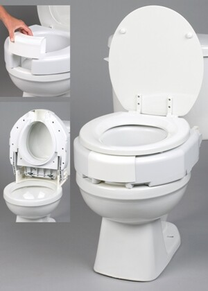 3 1 2 Quot Secure Bolt Hinged Elevated Toilet Seat