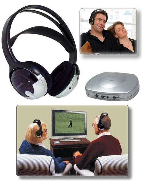 TV Listener J3 Rechargeable Stereo Wireless Headset