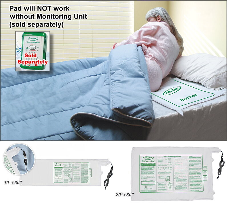 Bed Pad Sensors for Fall Monitor Caregiver Alarms