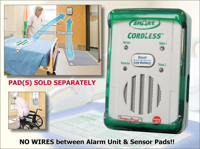 Cordless Caregiver Fall Alarm Prevention Monitoring Unit