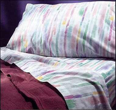 rainbow brush hospital sheet set