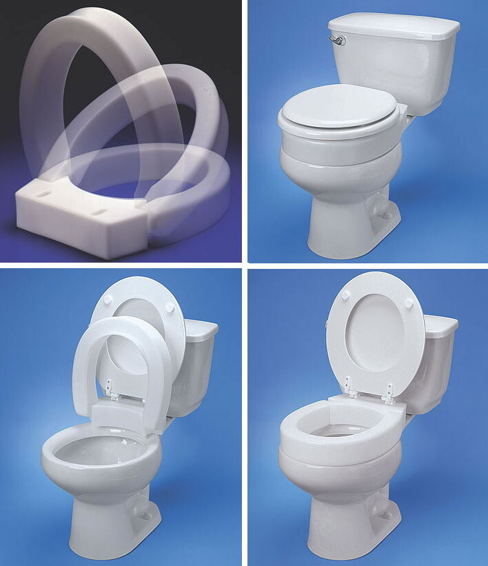 3 Quot Hinged Elevated Toilet Seat